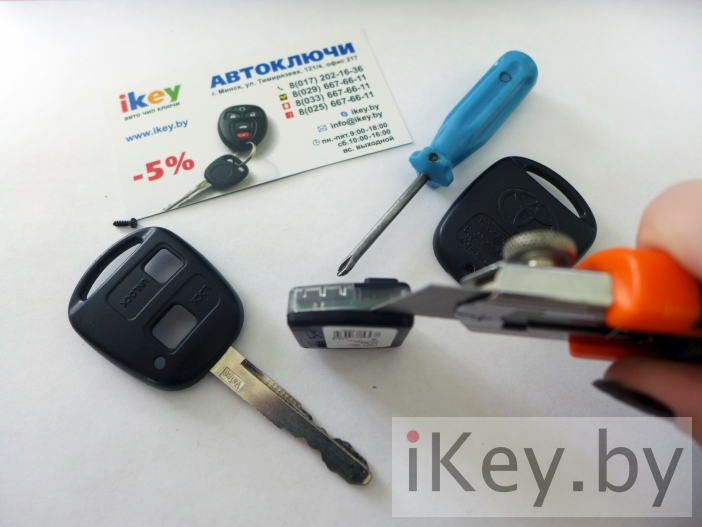 478Ключ тойота как поменять батарейку