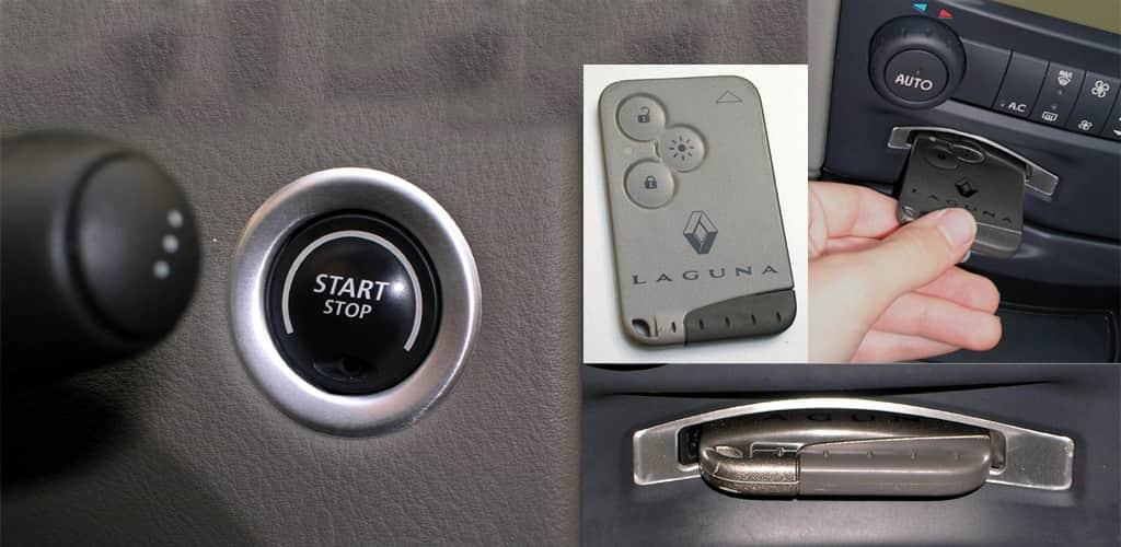 Кнопка Start/Stop и слот для карты Рено